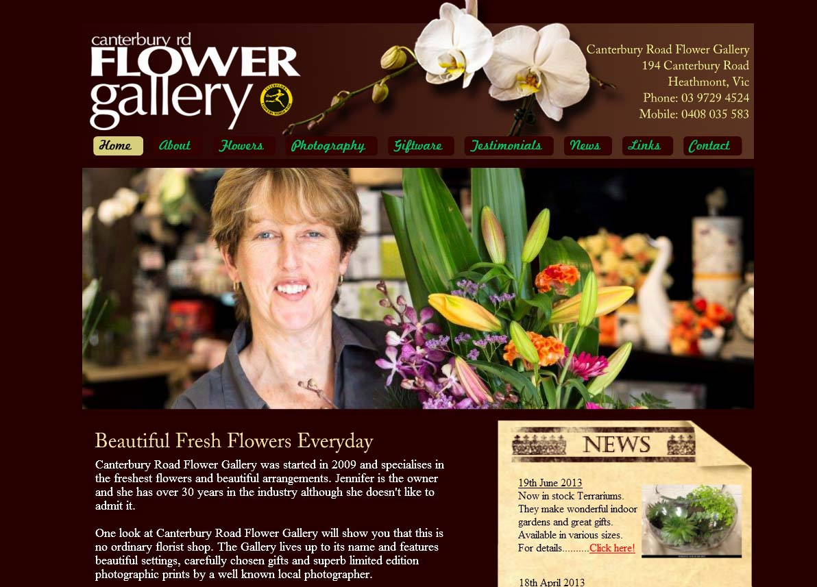 canterbury rd flower gallery