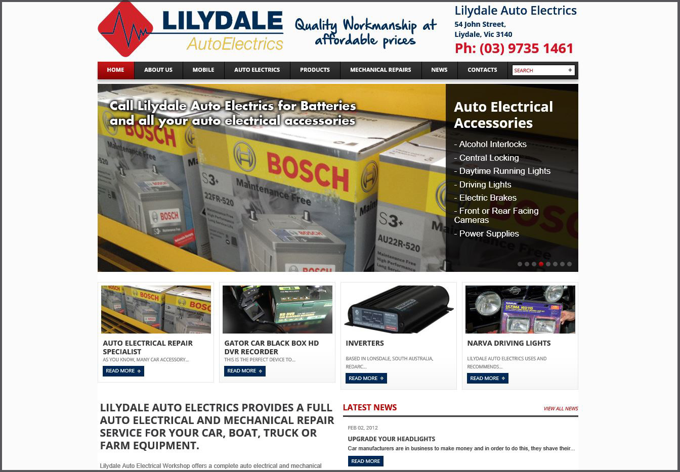 Lilydale Auto Electrics Banner